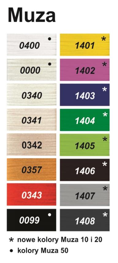 Muza Ariadna karta kolorów
