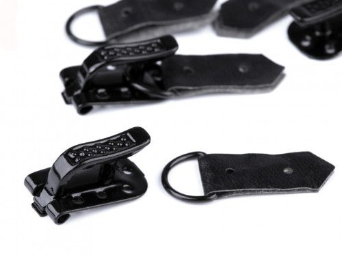 keski-zapięcia do futer i kożuchów czarne