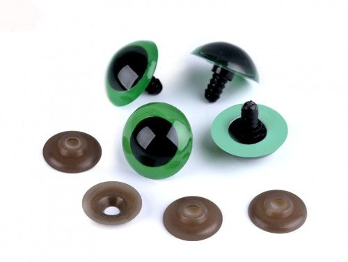 oczy do zabawek zielone 26mm - para