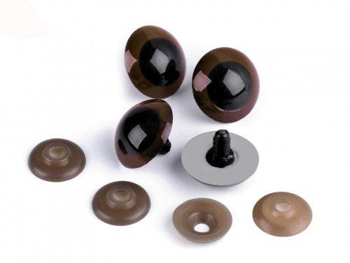 oczy do zabawek brązowe 26mm - para