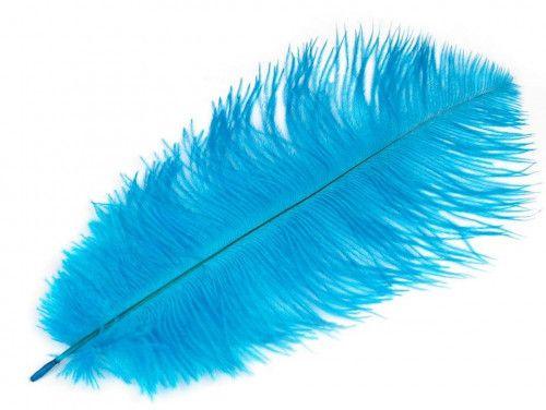 strusie pióra 20-25 cm turkusowe