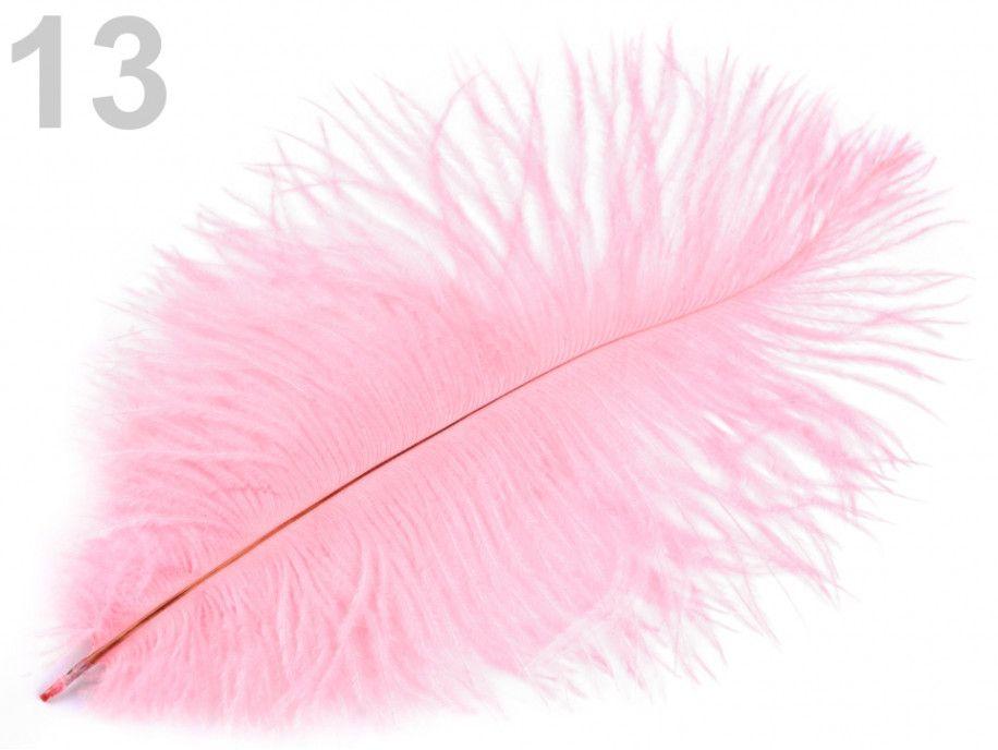 strusie pióro 20-25 cm różowe