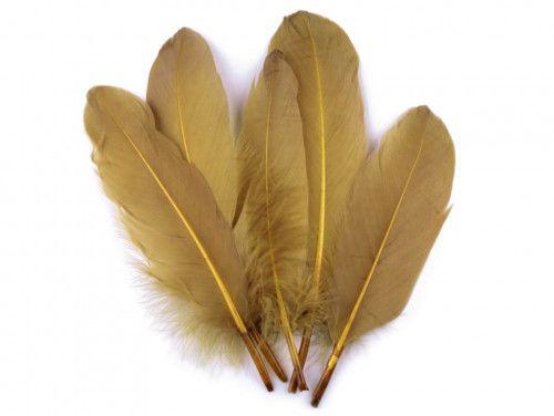 pióra gęsie 15-21 cm. złote