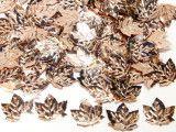 cekiny liście beżowe