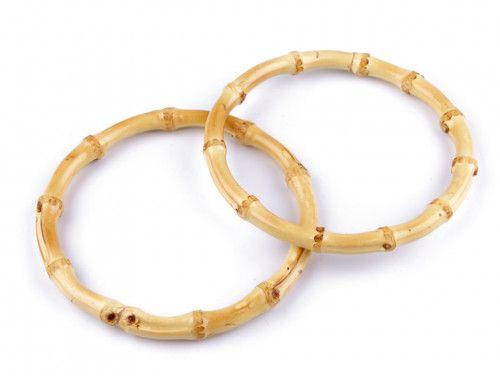 obręcz, koło drewniane bambusowe grube