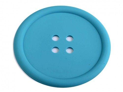 guzik silikonowy-podkładka, ozdoba-turkusowy