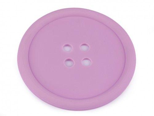 guzik silikonowy-podkładka, ozdoba-lawendowy