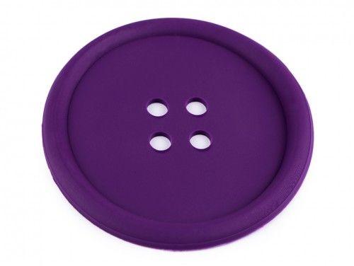 guzik silikonowy-podkładka, ozdoba-fioletowy