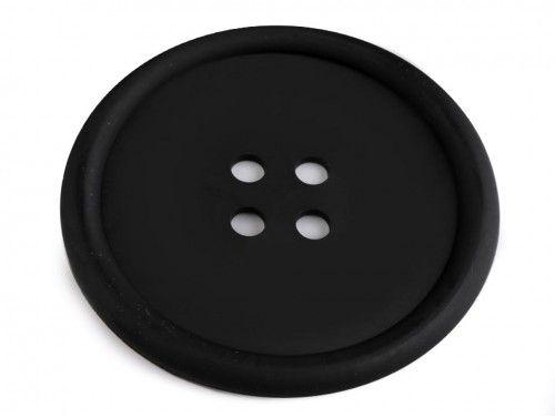 guzik silikonowy-podkładka, ozdoba-czarny