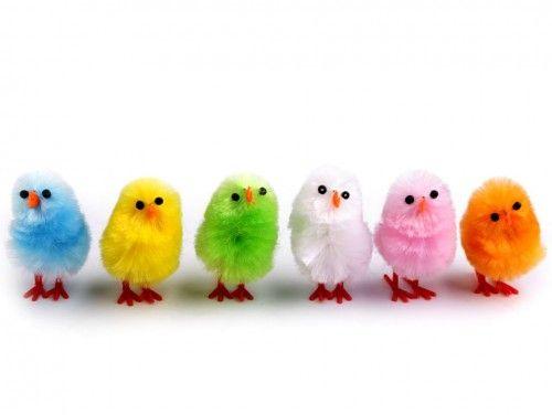 kurczaki wielkanocne kolorowe 6 szt.
