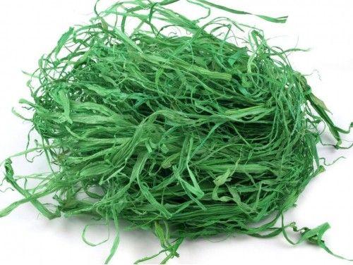 trawa papierowa do aranżacji zielona