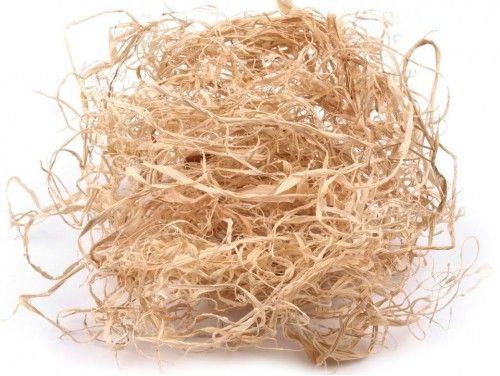 trawa papierowa do aranżacji beżowa