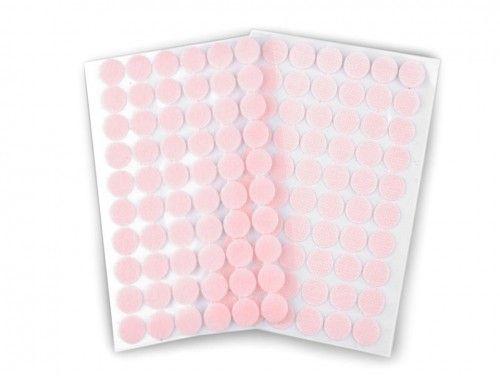 rzep z klejem kółeczka 15 mm różowe