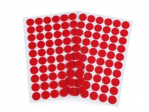 rzep z klejem kółeczka 15 mm czerwone