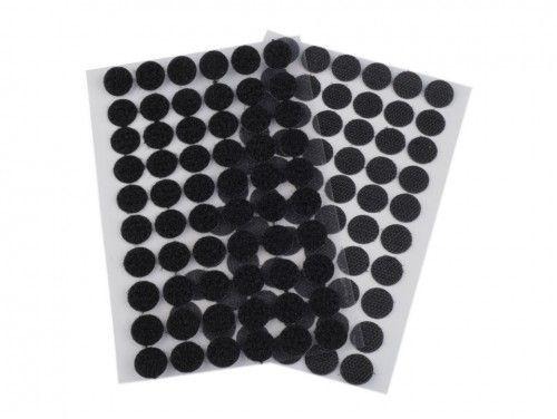 rzep z klejem kółeczka 15 mm czarne
