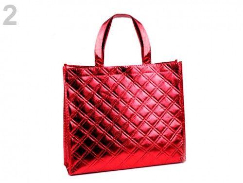 torba metaliczna czerwona