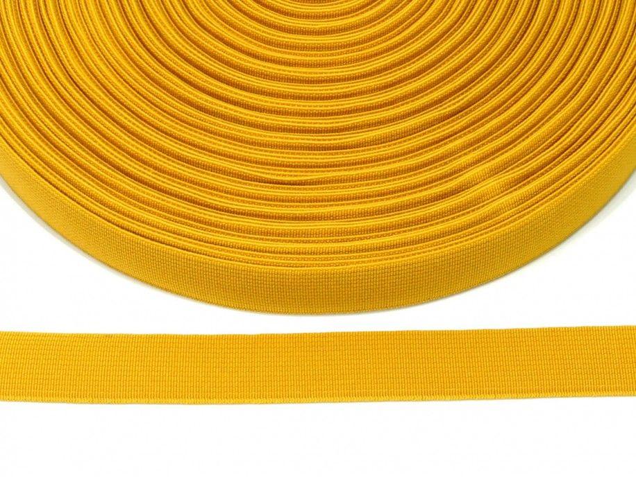 guma płaska 20 mm - żółta ciemna