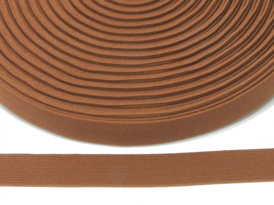 guma płaska 20 mm - brązowa jasna