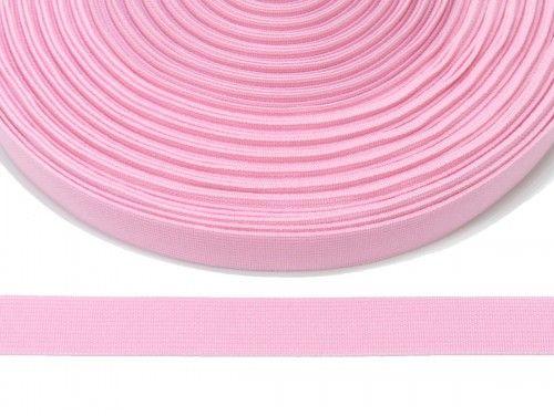 guma płaska 20 mm - różowa jasna