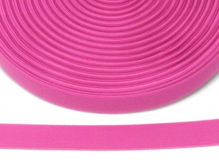 guma płaska 20 mm - różowa ciemna