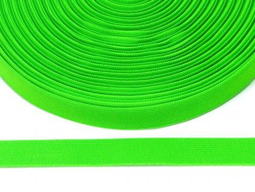 guma płaska 20 mm -zielona odblaskowa