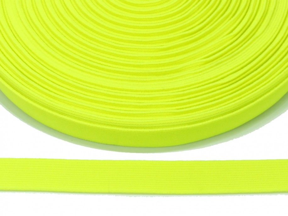 guma płaska 20 mm - żółta odblaskowa