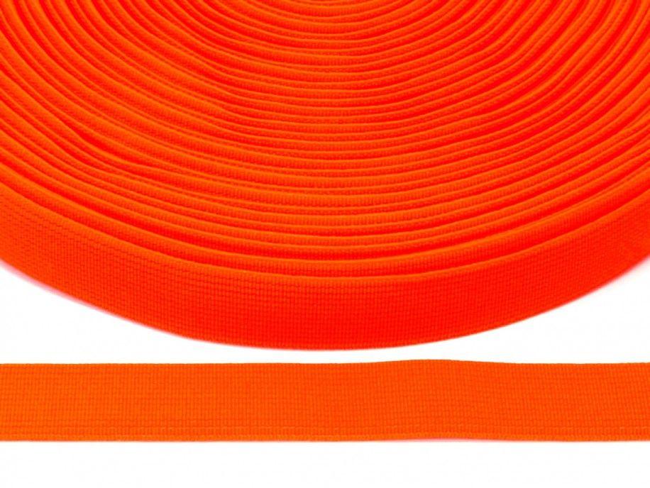 guma płaska 20 mm - pomarańczowa odblaskowa