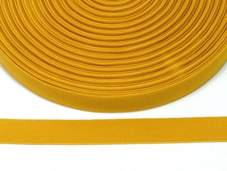 guma płaska 20 mm - musztardowa