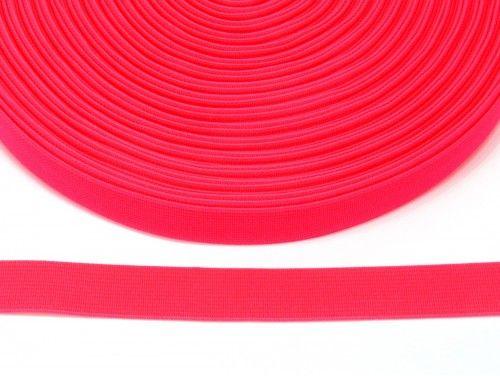 guma płaska 20 mm - różowa ostra