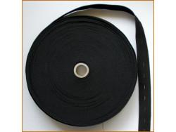 guma z dziurkami czarna 25 mm
