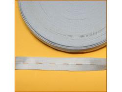 guma z dziurkami biała 21mm rolka 25 metrów
