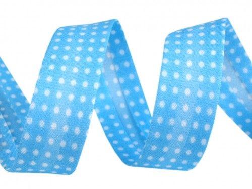 lamówka ozdobna w kropki błękitna