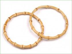 obręcz, koło drewniane bambusowe