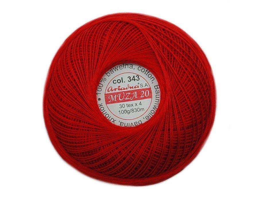 Kordonek MUZA 20 (30x4) 343 czerwony ARIADNA