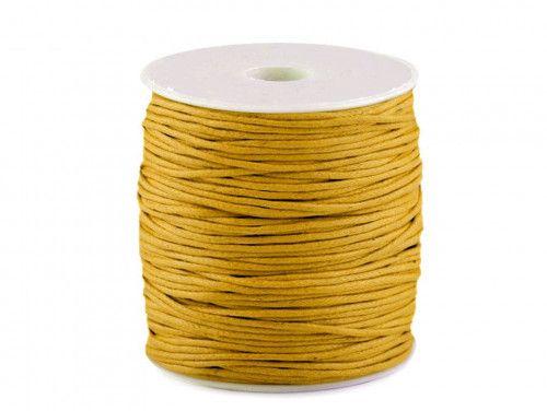sznurek bawełniany woskowany 2mm żółty