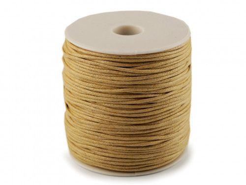 sznurek bawełniany woskowany 2mm musztardowy