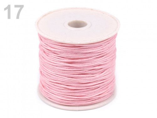 sznurek woskowany 1mm - 10 metrów różowy