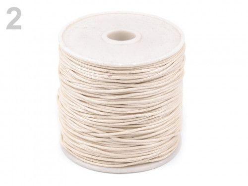 sznurek woskowany 1mm - 10 metrów naturalny