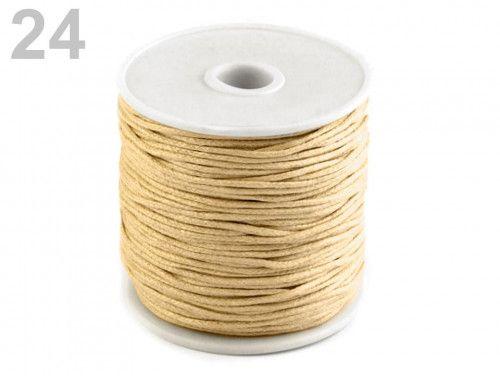 sznurek woskowany 1mm - 10 metrów beżowy