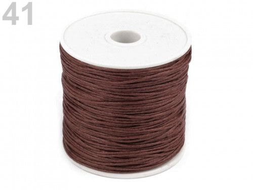 sznurek woskowany 1mm - 10 metrów brązowy