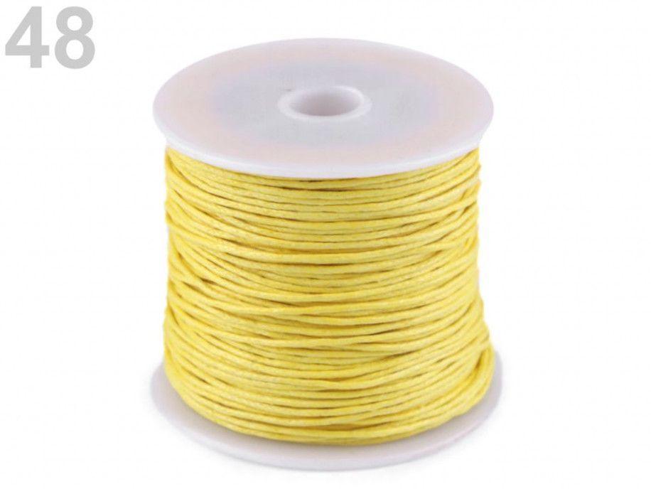 sznurek woskowany 1mm - 10 metrów żółty