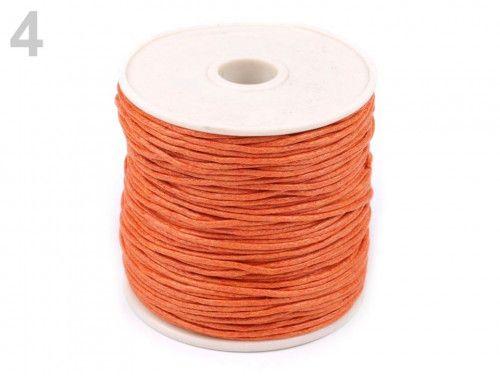 sznurek woskowany 1mm - 10 metrów pomarańczowy