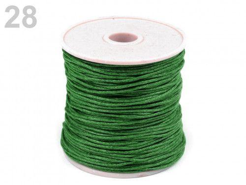 sznurek woskowany 1mm - 10 metrów zielony