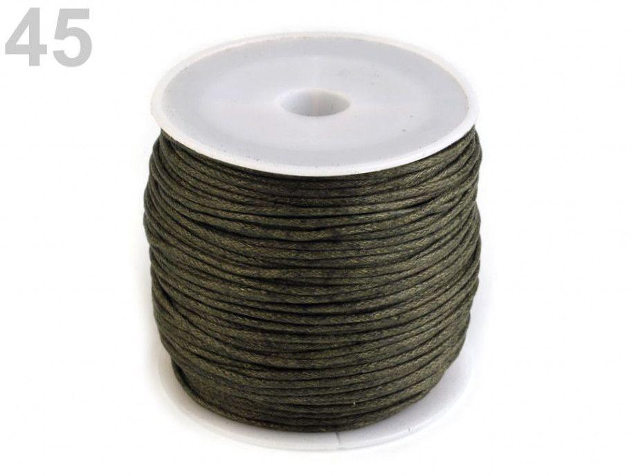 sznurek woskowany 1mm - 10 metrów khaki