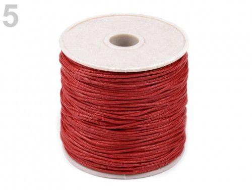 sznurek woskowany 1mm - 10 metrów czerwony
