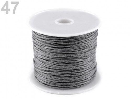 sznurek woskowany 1mm - 10 metrów szary