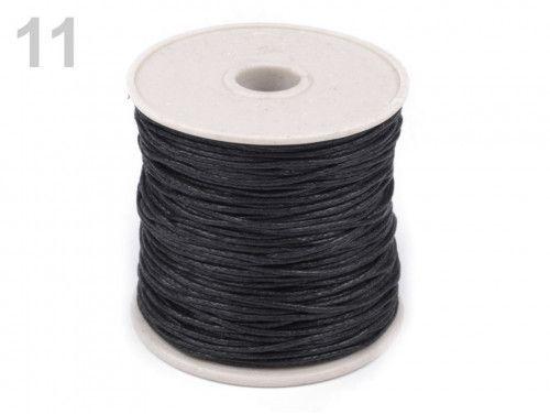 sznurek woskowany 1mm - 10 metrów czarny