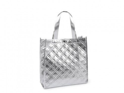 torba metaliczna srebrna mała