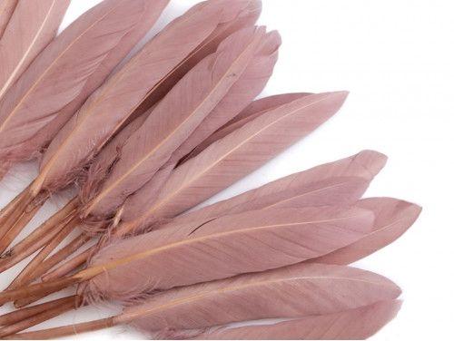 pióra kacze 9-14 cm opak.20 sztuk stary róż