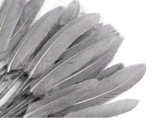 pióra kacze 9-14 cm opak.20 sztuk szare